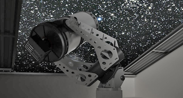"""Customised robotic observatory with control system """"SafeRoof"""""""