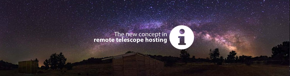Telescope hosting under dark sky